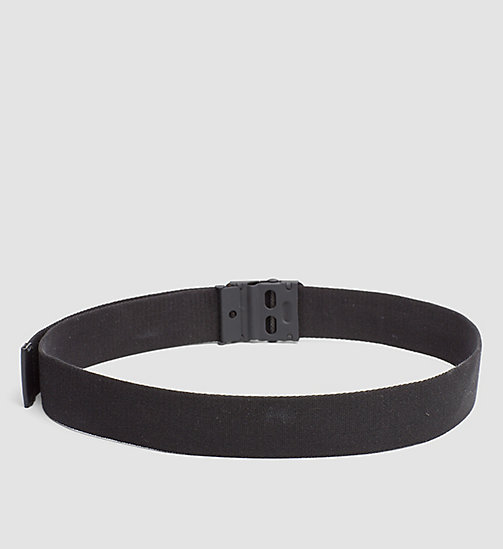 CALVINKLEIN Canvas Plaque Belt - BLACK - CALVIN KLEIN BELTS - detail image 1