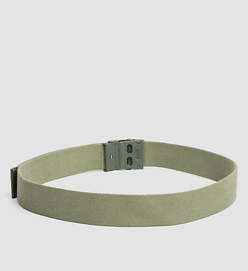 CALVINKLEIN Canvas Plaque Belt - IVY - CALVIN KLEIN BELTS - detail image 1