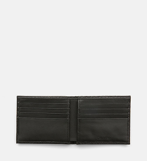 CALVINKLEIN Leather Logo Wallet - BLACK - CALVIN KLEIN SHOES & ACCESSORIES - detail image 1