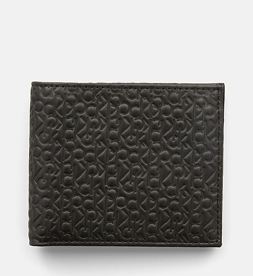 CALVINKLEIN Leather Logo Wallet - BLACK - CALVIN KLEIN WALLETS - main image