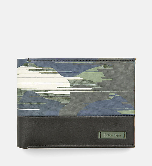 CALVINKLEIN Leather Camo Wallet - SPEED CAMO - CALVIN KLEIN ACCESSORIES - main image