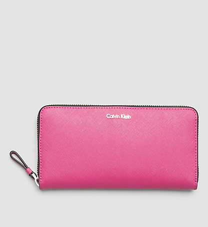 CALVIN KLEIN Leather Large Zip-Around Wallet - Sofie K60K601084502