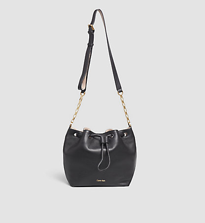 CALVIN KLEIN Leather Mini Drawstring - Mia K60K601453905