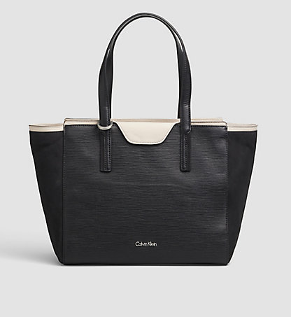 CALVIN KLEIN Leather Tote Bag - Lisa K60K601643001