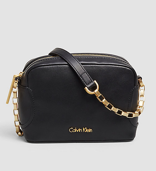 CALVINKLEIN Leather Mini Crossover - BLACK - CALVIN KLEIN BAGS - main image