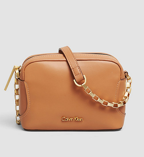 CALVINKLEIN Leather Mini Crossover - CARAMEL - CALVIN KLEIN CROSSOVER BAGS - main image