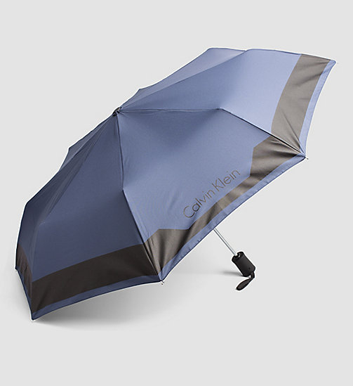 Medium Foldable Umbrella - NAVY - CALVIN KLEIN SHOES & ACCESSORIES - detail image 1