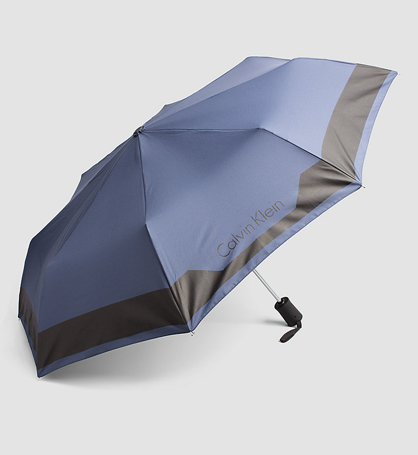 CALVINKLEIN Medium Foldable Umbrella - NAVY - CALVIN KLEIN SHOES & ACCESSORIES - detail image 1