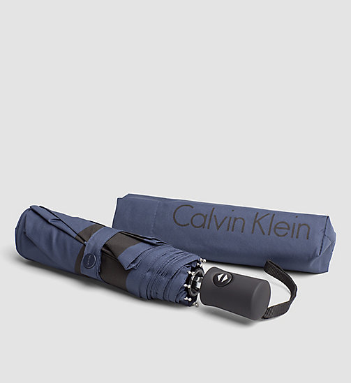 CALVINKLEIN Medium Foldable Umbrella - NAVY - CALVIN KLEIN SMALL ACCESSORIES - main image