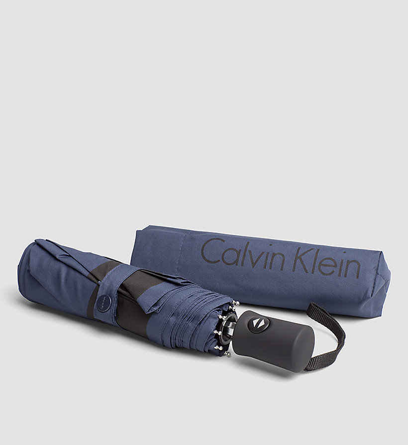 CALVINKLEIN Medium Foldable Umbrella - NAVY - CALVIN KLEIN SHOES & ACCESSORIES - main image