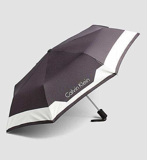 CALVINKLEIN Medium Foldable Umbrella - BLACK - CALVIN KLEIN  - detail image 1