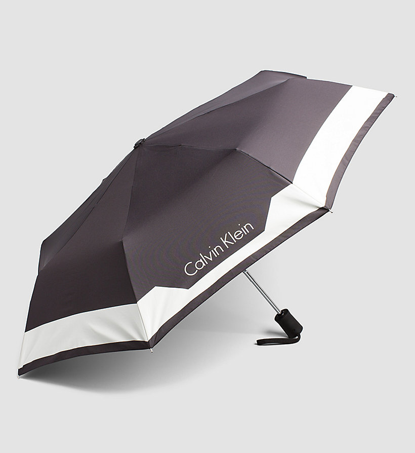 CALVINKLEIN Medium Foldable Umbrella - BLACK - CALVIN KLEIN SHOES & ACCESSORIES - detail image 1
