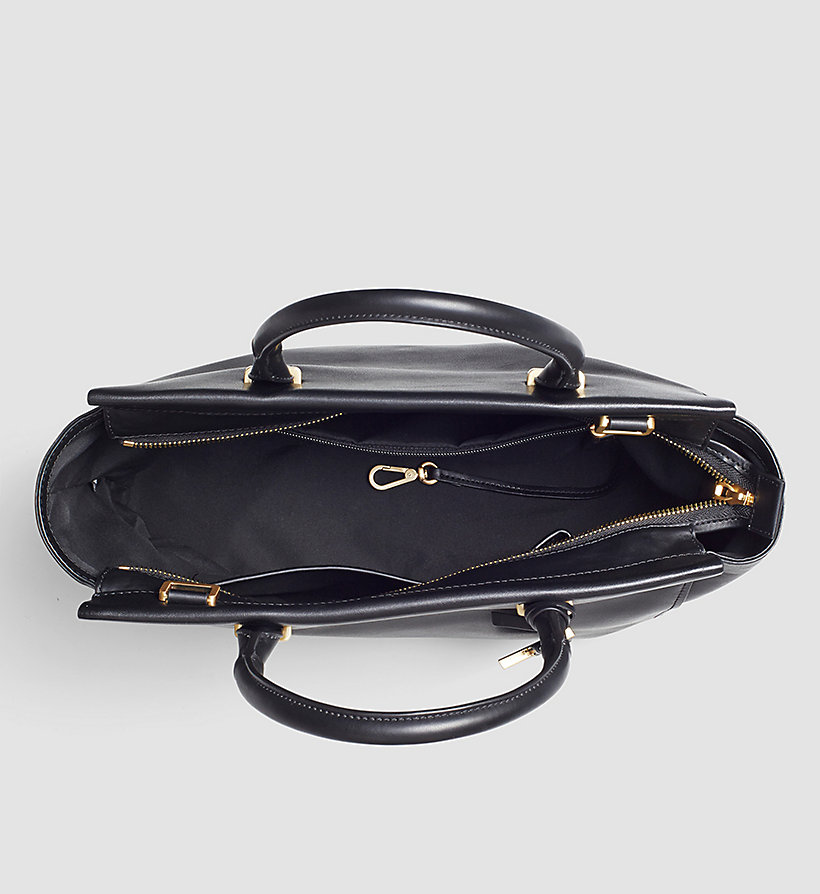 CALVINKLEIN Leather Tote Bag - BLACK - CALVIN KLEIN SHOES & ACCESSORIES - detail image 2
