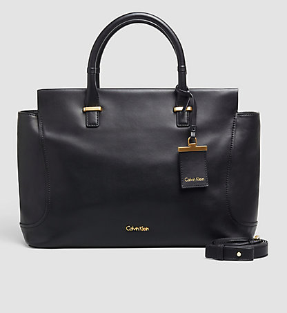 CALVIN KLEIN Leather Tote Bag - Carolyn K60K602072001