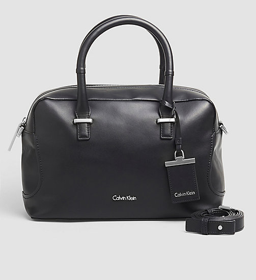 CKCOLLECTION Leather Duffle Bag - BLACK - CALVIN KLEIN SHOES & ACCESSORIES - main image