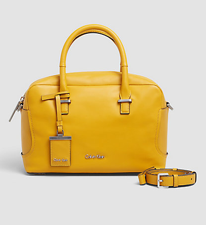 CALVIN KLEIN Leather Duffle Bag - Carolyn K60K602078704
