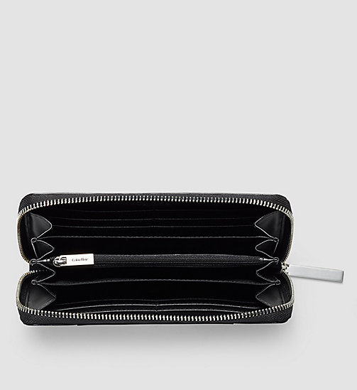 CALVINKLEIN Leather Ziparound Wallet - BLACK - CALVIN KLEIN WALLETS - detail image 1