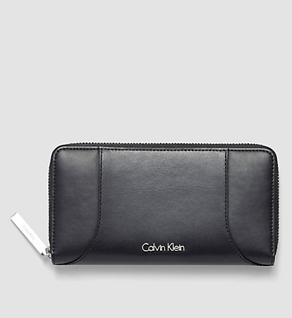 CALVIN KLEIN Leather Ziparound Wallet - Carolyn K60K602086001