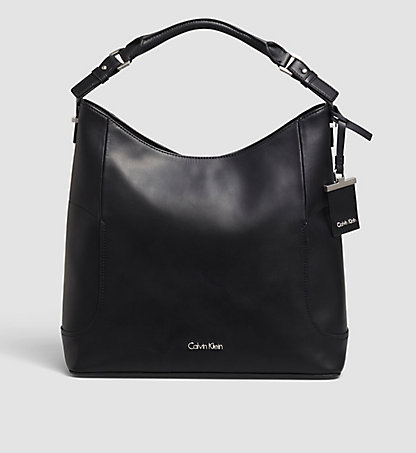 CALVIN KLEIN Leather Hobo - Carolyn K60K602092001