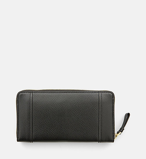 Large Leather Ziparound Wallet - BLACK - CALVIN KLEIN  - detail image 1