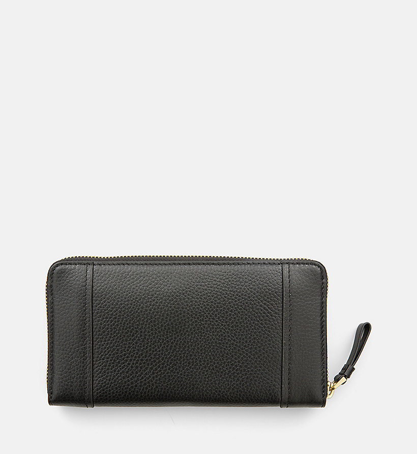 CALVINKLEIN Large Leather Ziparound Wallet - BLACK - CALVIN KLEIN SHOES & ACCESSORIES - detail image 1