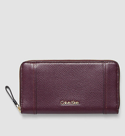CALVIN KLEIN Leather Ziparound Wallet - Keyla K60K602106500