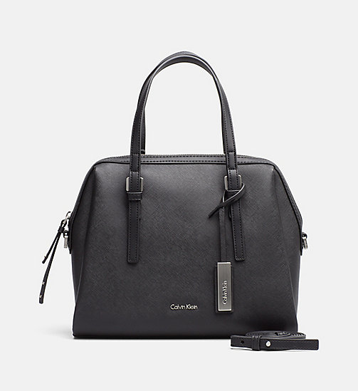 CALVINKLEIN Medium Satchel - BLACK - CALVIN KLEIN CARRIED AWAY - main image