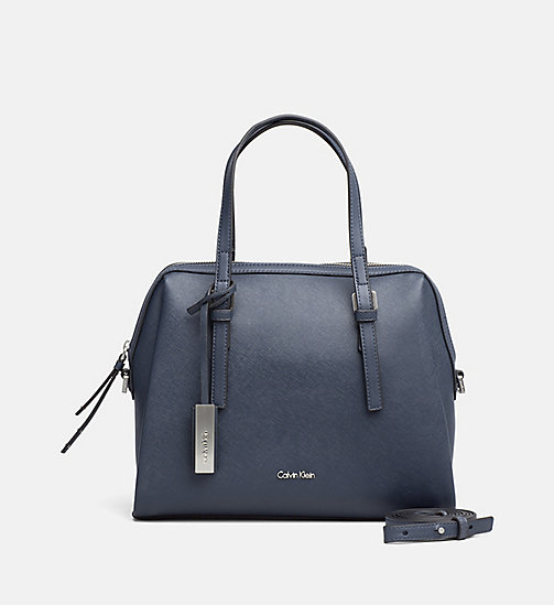 Medium Satchel - BLUE NIGHT - CALVIN KLEIN SHOES & ACCESSORIES - main image