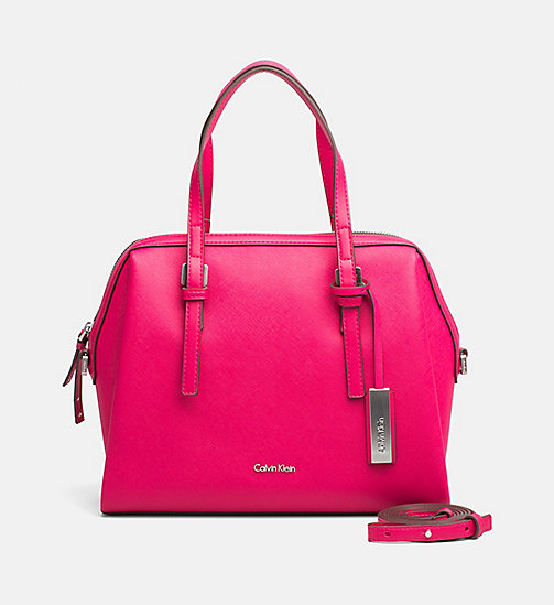 CALVINKLEIN Medium Satchel - BRIGHT ROSE - CALVIN KLEIN SATCHELS - main image
