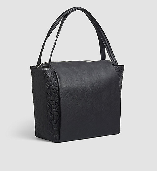 CALVINKLEIN Large Logo Tote Bag - BLACK - CALVIN KLEIN SHOES & ACCESSORIES - detail image 1