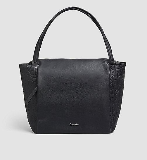 CALVINKLEIN Large Logo Tote Bag - BLACK - CALVIN KLEIN SHOES & ACCESSORIES - main image