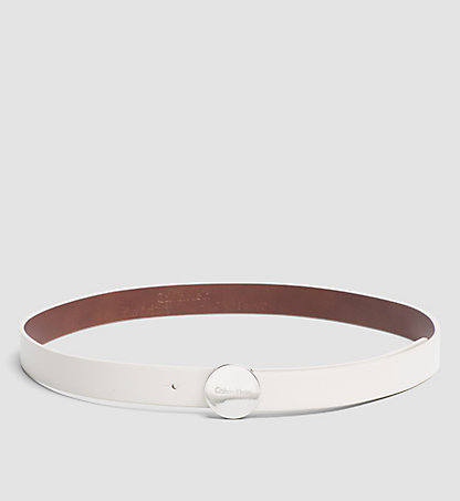 CALVIN KLEIN Leather Logo Plaque Belt K60K602122102