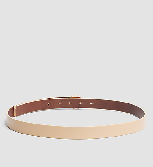 CALVINKLEIN Leather Logo Plaque Belt - VACCHETTA - CALVIN KLEIN BELTS - detail image 1