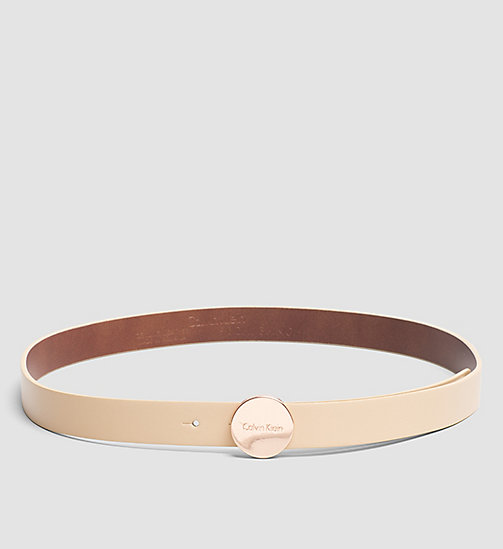 CALVINKLEIN Leather Logo Plaque Belt - VACCHETTA - CALVIN KLEIN BELTS - main image