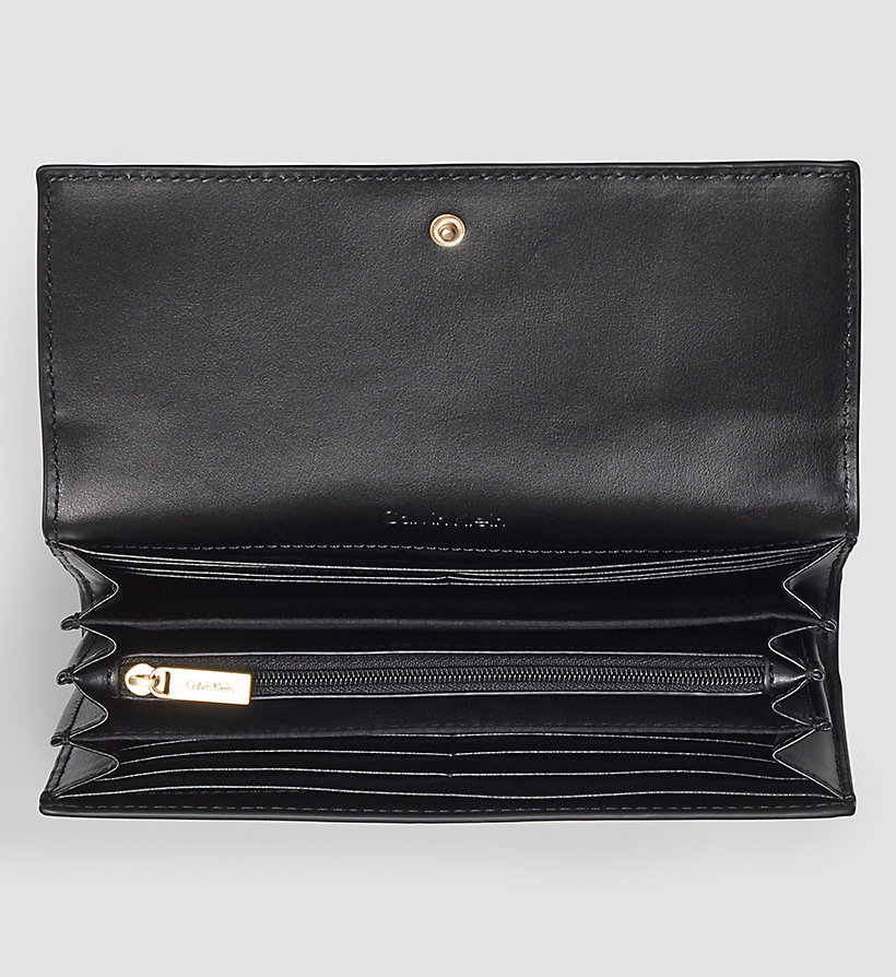 CALVINKLEIN Large Trifold Wallet - BLACK - CALVIN KLEIN SHOES & ACCESSORIES - detail image 1
