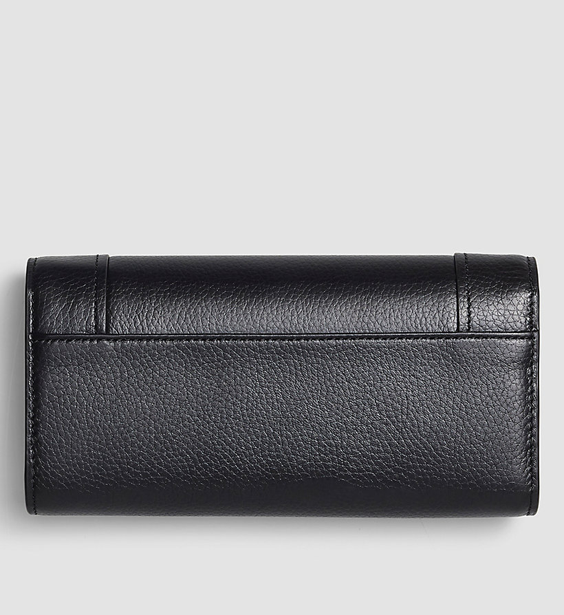CALVINKLEIN Large Trifold Wallet - BLACK - CALVIN KLEIN SHOES & ACCESSORIES - detail image 2