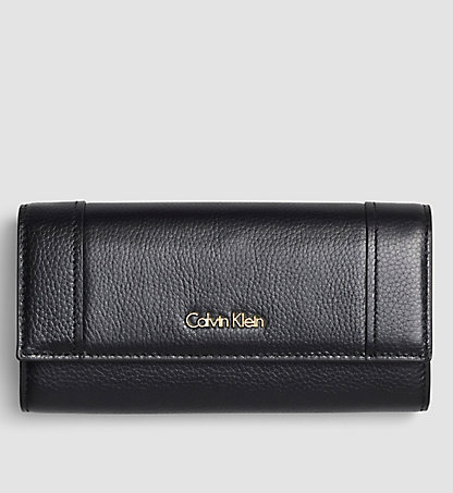 CALVIN KLEIN Leather Trifold Wallet - Keyla K60K602127001