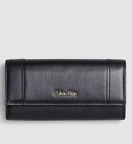 Large Trifold Wallet - BLACK - CALVIN KLEIN SHOES & ACCESSORIES - main image