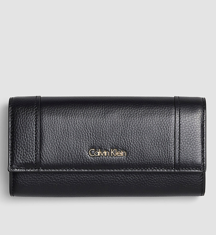 CALVINKLEIN Large Trifold Wallet - BLACK - CALVIN KLEIN SHOES & ACCESSORIES - main image