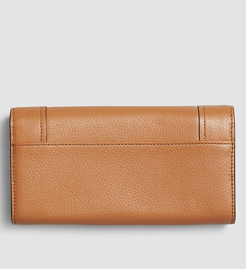 CALVINKLEIN Large Trifold Wallet - CARAMEL - CALVIN KLEIN SHOES & ACCESSORIES - detail image 2