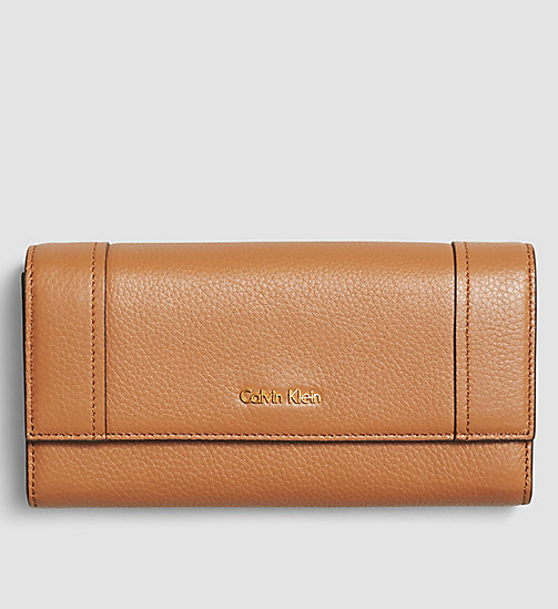 Large Trifold Wallet - CARAMEL - CALVIN KLEIN SHOES & ACCESSORIES - main image