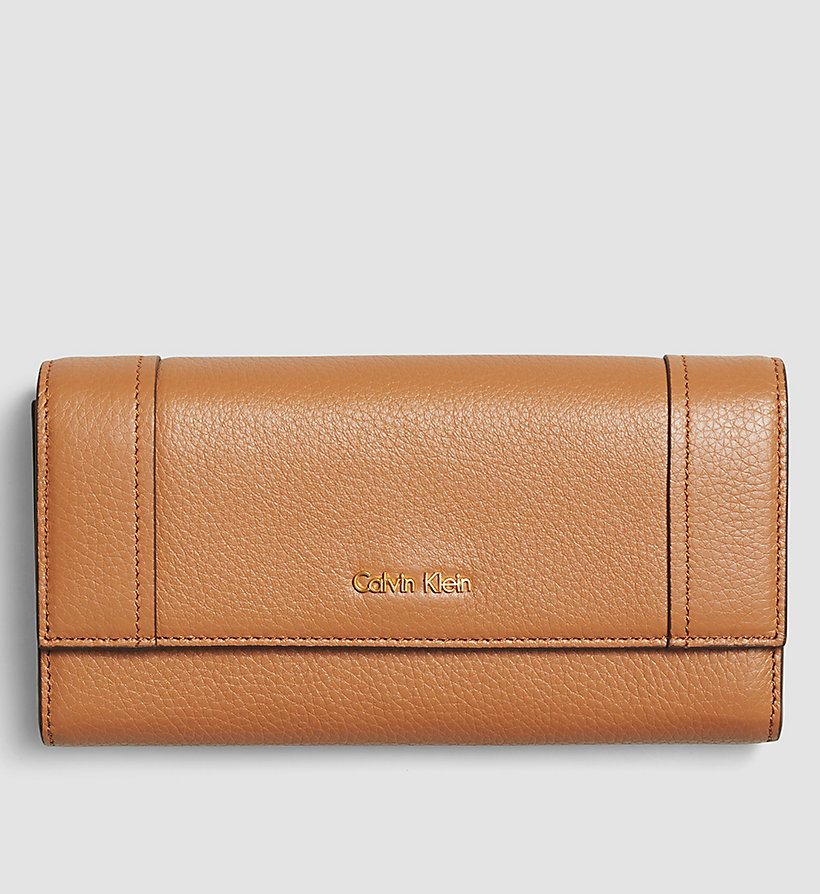 CALVINKLEIN Large Trifold Wallet - CARAMEL - CALVIN KLEIN SHOES & ACCESSORIES - main image