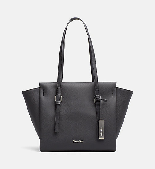 CALVINKLEIN Medium tote bag - BLACK - CALVIN KLEIN CARRIED AWAY - main image