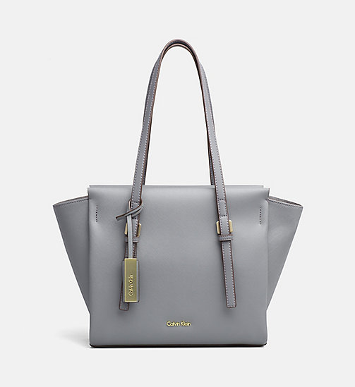 CALVINKLEIN Medium tote bag - STEEL GREY - CALVIN KLEIN CARRIED AWAY - main image