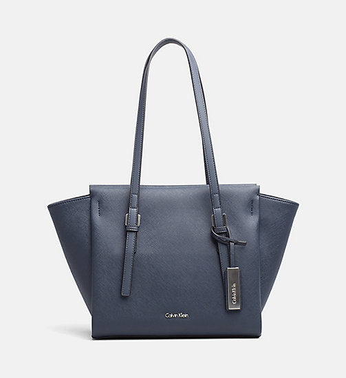 CALVINKLEIN Medium Tote Bag - BLUE NIGHT - CALVIN KLEIN CARRIED AWAY - main image