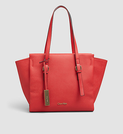 Medium Tote Bag - LIPSTICK RED - CALVIN KLEIN SHOES & ACCESSORIES - main image