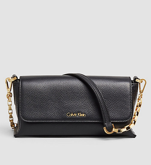 Leather Clutch - BLACK - CALVIN KLEIN  - main image