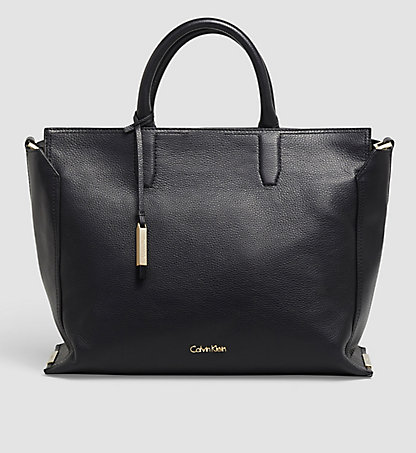 CALVIN KLEIN Leather Tote Bag - Keyla K60K602139001