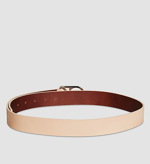 CALVINKLEIN Leather Logo Belt - VACCHETTA - CALVIN KLEIN BELTS - detail image 1