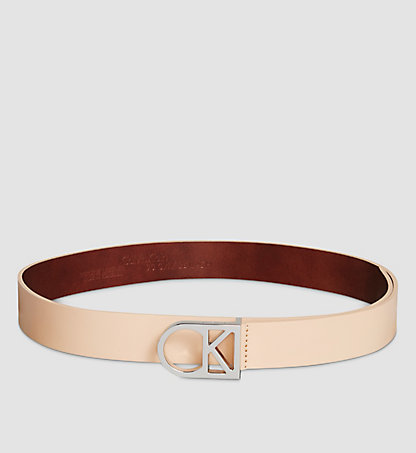 CALVIN KLEIN Leather Logo Belt K60K602141229
